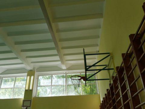 ремонт спортзала Гимназия Грина